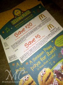 Mcdonalds discount coupons for sesame place