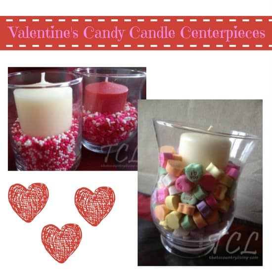 valentines day candy candle centerpieces
