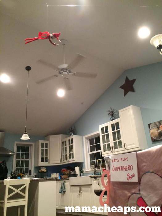 Elf Flies Above Kitchen