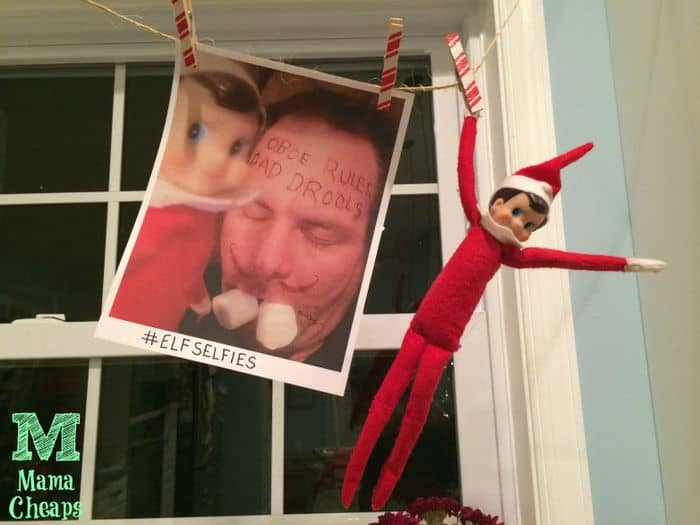 elf on shelf selfie