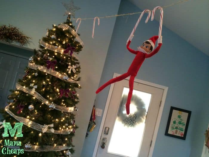 elf on the shelf candy canes