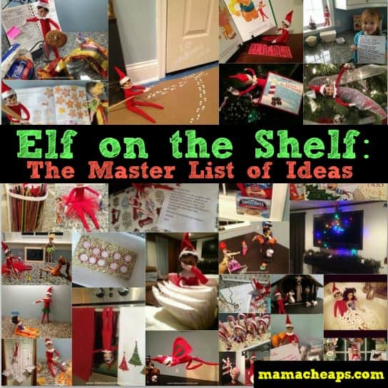 elf on the shelf ideas master list