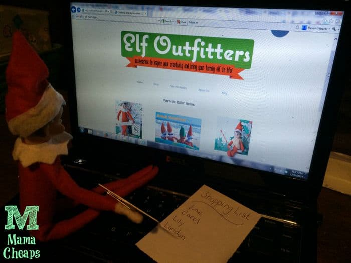 elf on the shelf shopping