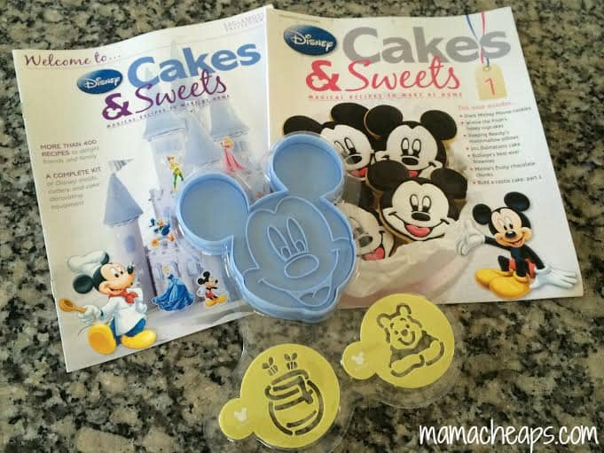 disney cakes and sweets magazine free gifts