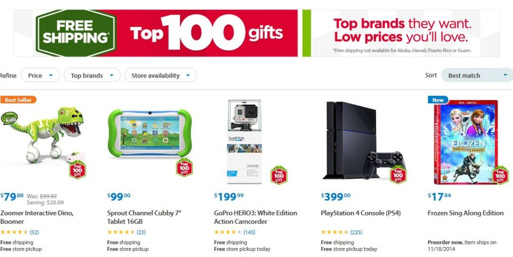 Walmart Top Toys 2014 : Walmart free shipping on top gifts mama cheaps