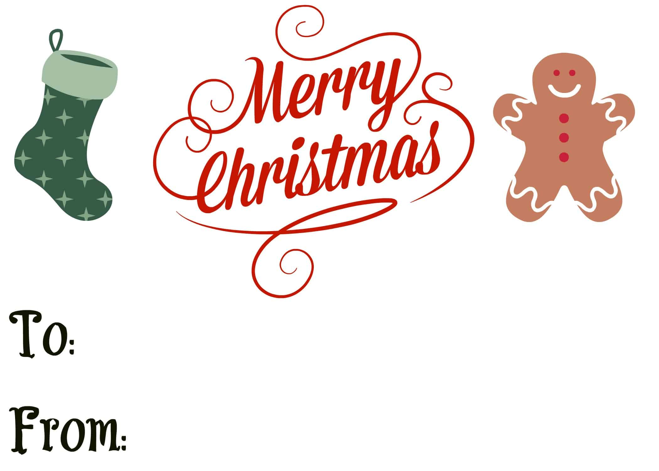 This is a picture of Soft Merry Christmas Tags Printable