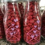 m&m valentine milk bottle craft