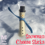 Snowman String Cheese