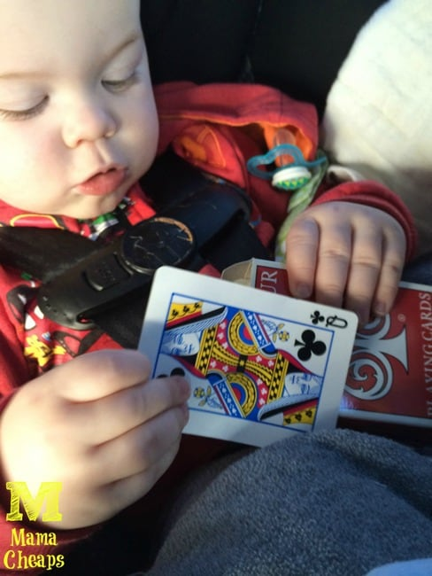 car road trip boredom buster toddler pack of playing cards
