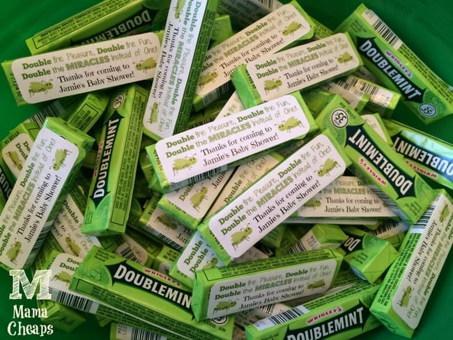 doublemint gum twin baby shower favors free printable mama