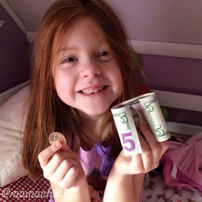 lily tooth fairy money