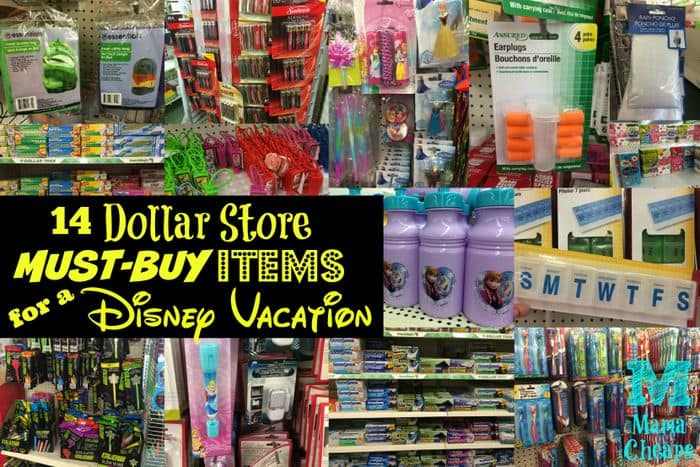 14 dollar store must buy items for a disney vacation for Dollar store items online