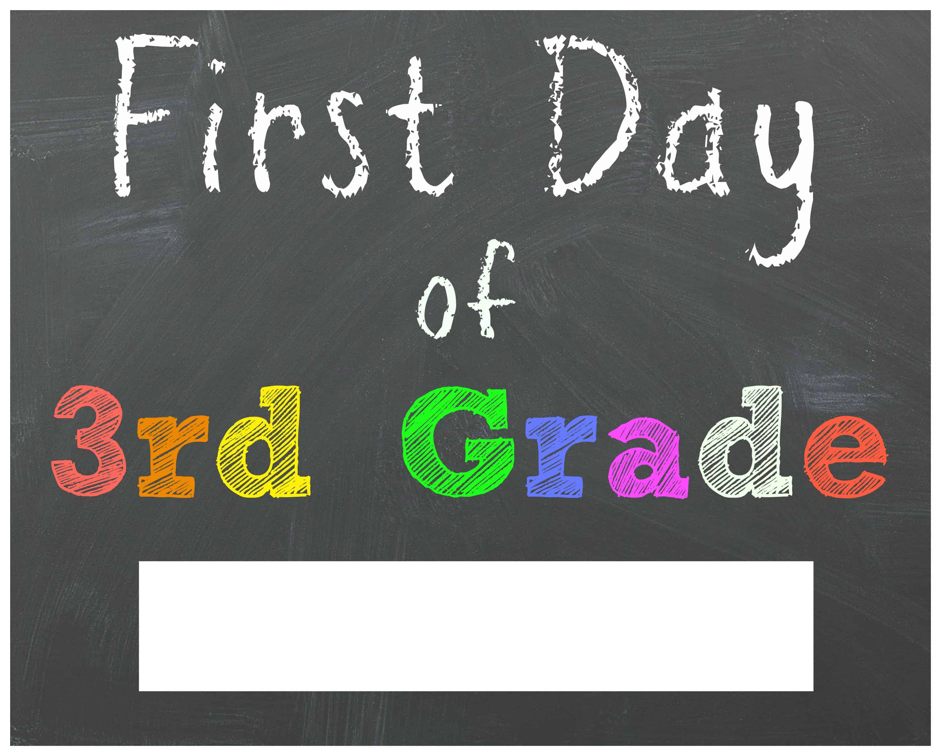 Striking image in first day of school signs printable