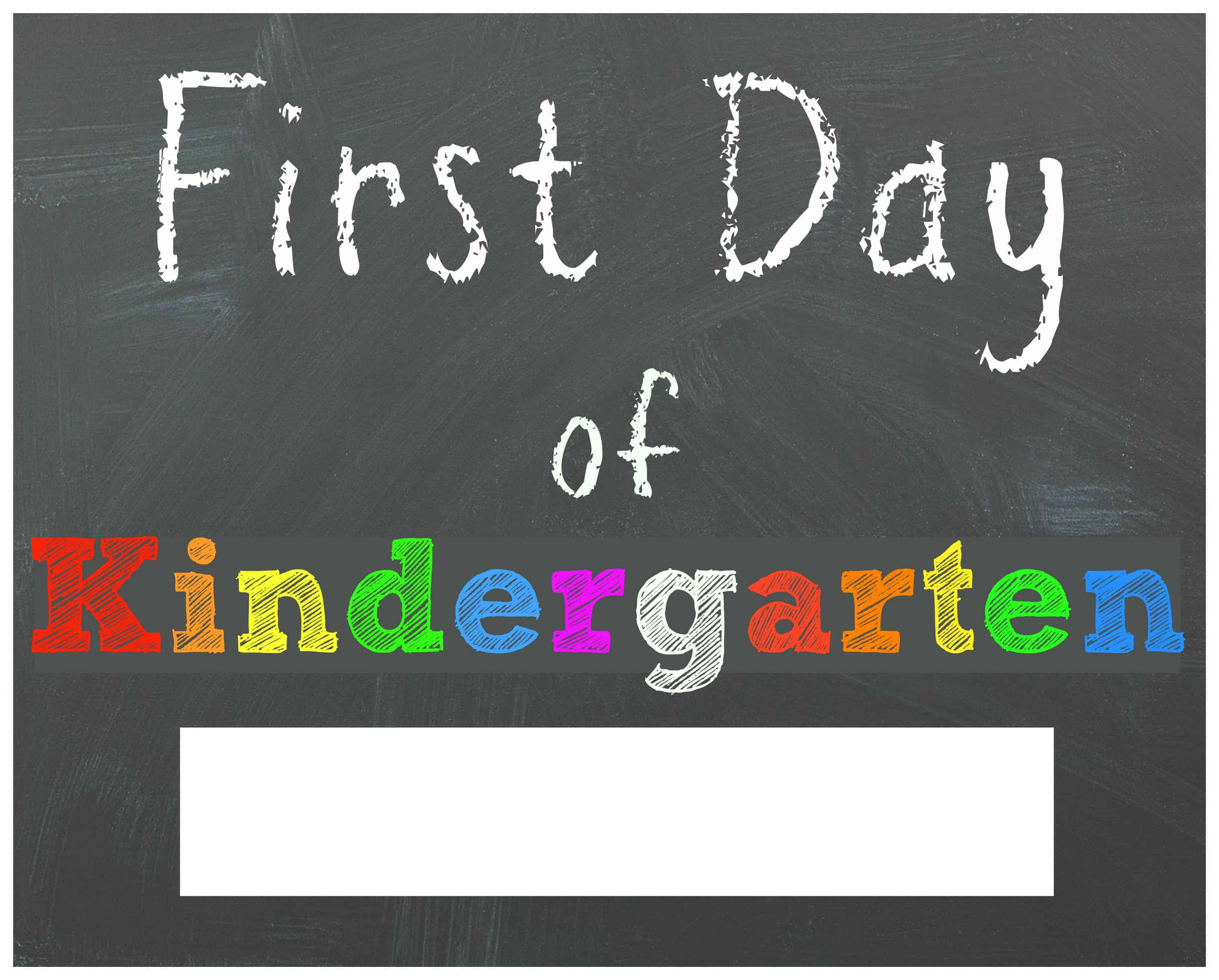 Crush image with first day of kindergarten printable