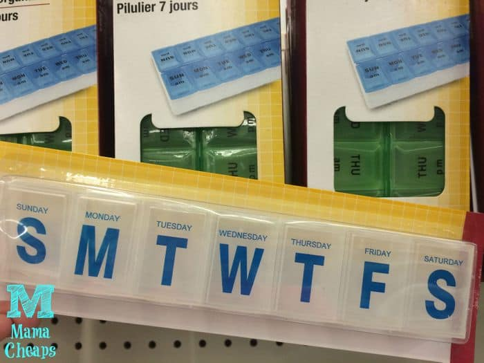 pill box at dollar tree
