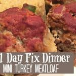 Turkey Mini Meatloaf 21 Day Fix Meal
