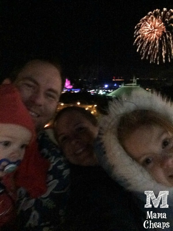 watching fireworks from bay lake tower deck