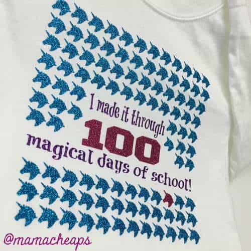 Unicorn 100th Day of School Shirt