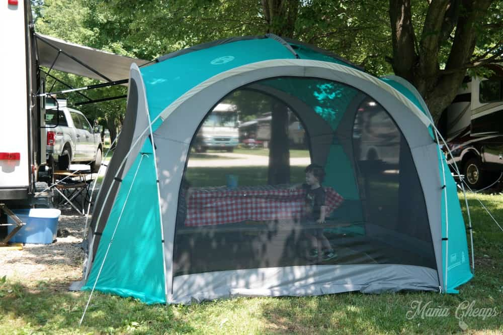 Coleman Tent at Campground