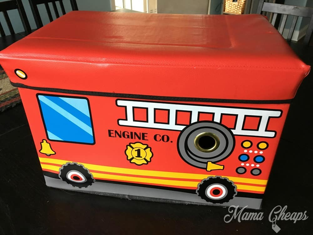 Fire Truck Toy Box