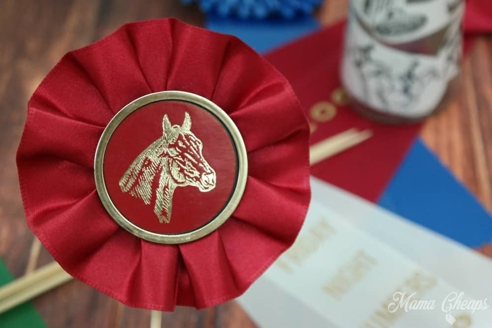red horse show ribbon
