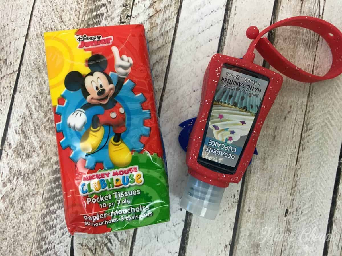 mickey-tissues-and-hand-sanitizer