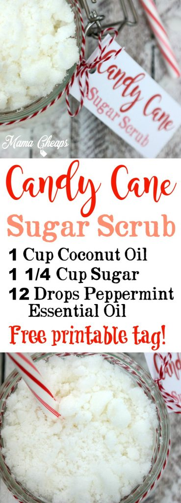 DIY Candy Cane Sugar Scrub