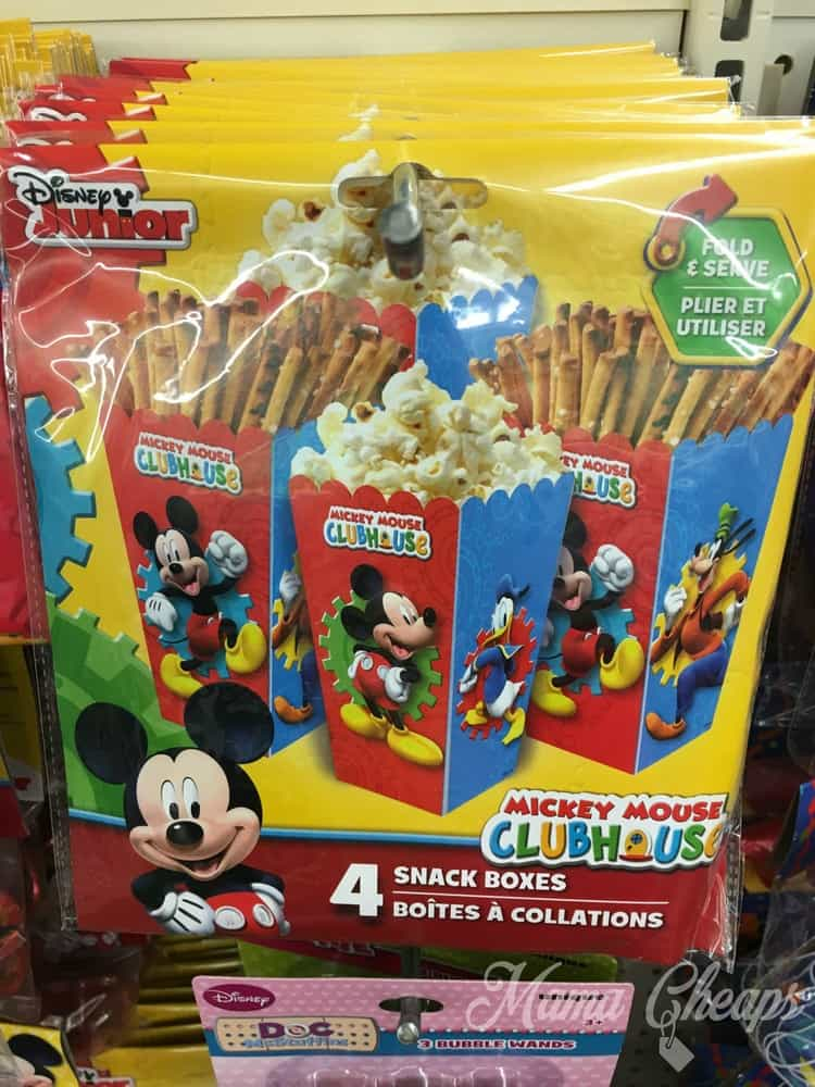 Mickey Mouse Snack Boxes