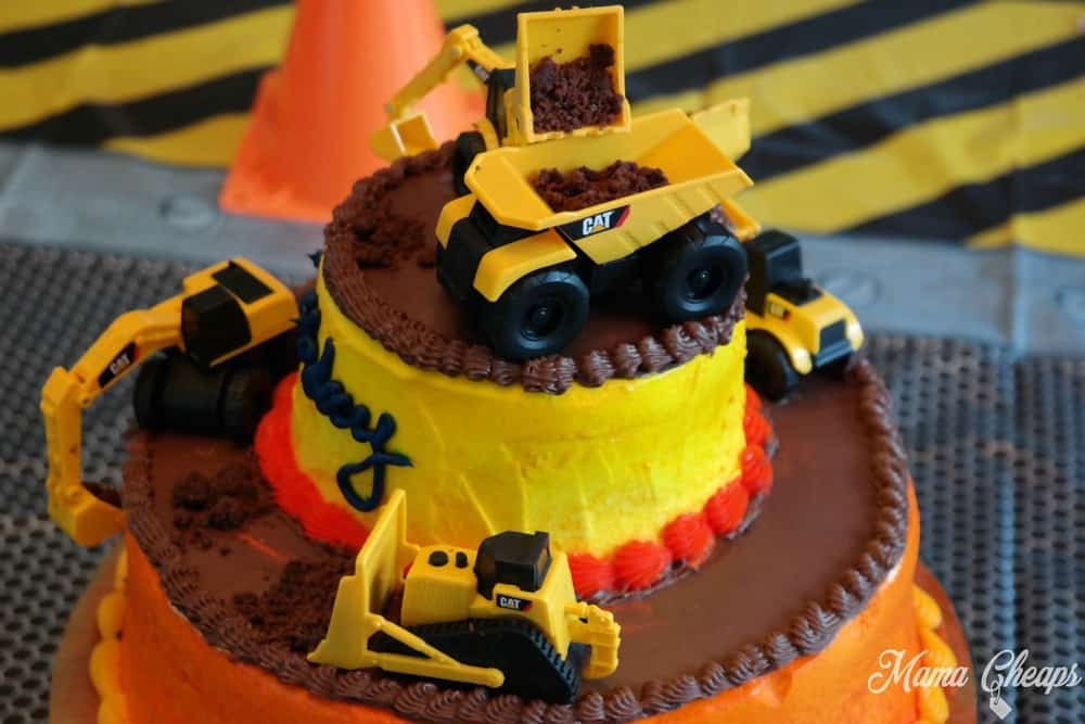 DIY Construction Vehicle Cake