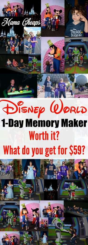 Disney One Day Memory Maker Picture Package Review