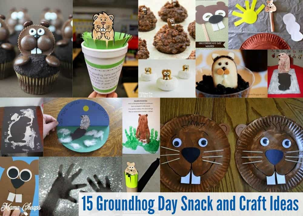Groundhog Day Snack and Craft Ideas