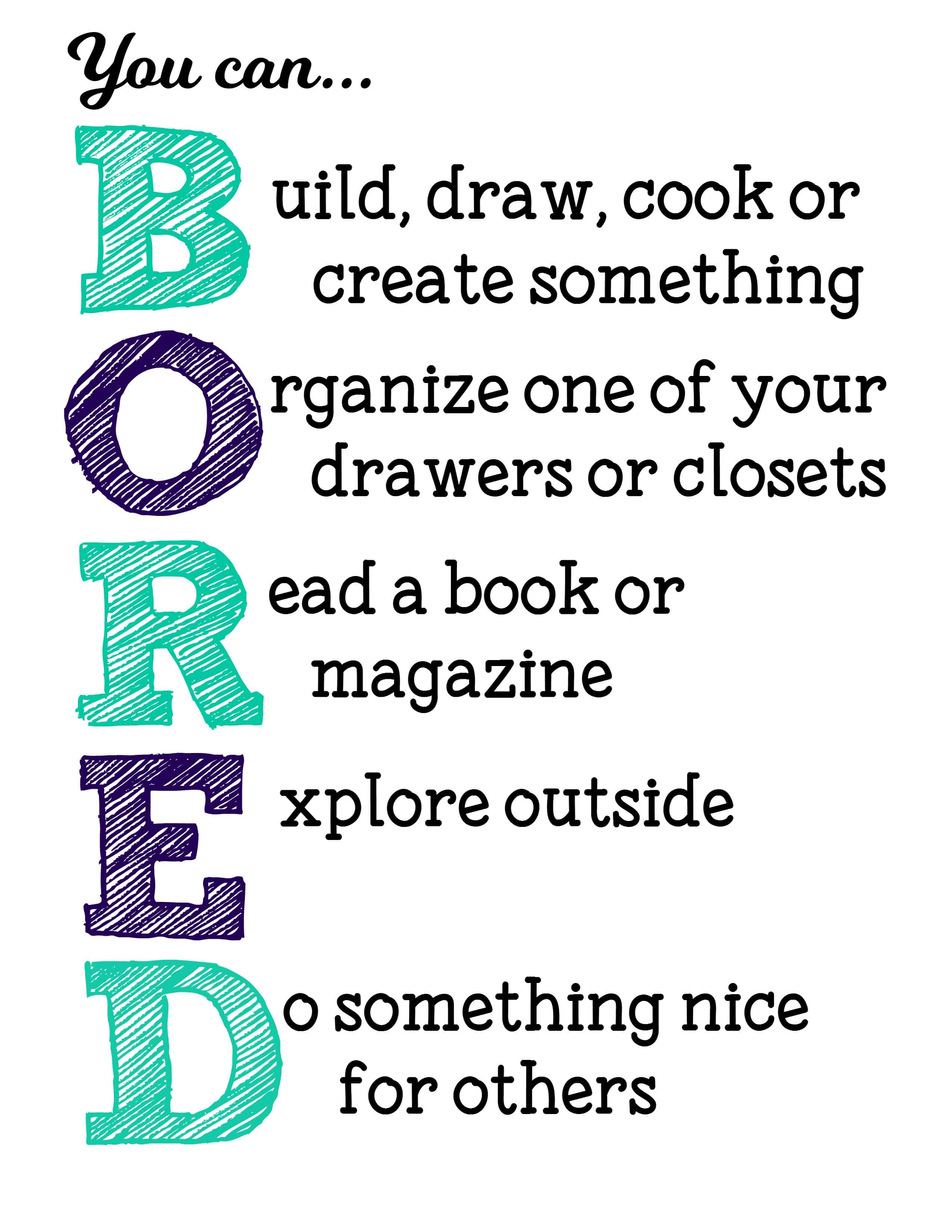 Super Suggestions For Im Bored Free Printable Sign Mama Cheapsmama Largest Home Design Picture Inspirations Pitcheantrous
