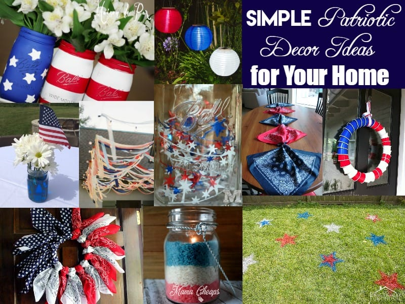 Simple patriotic decor ideas for your home mama - Patriotic home decor ideas ...