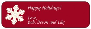 holiday label 1