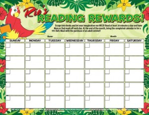 Rainforest Cafe Free Printable Incentive Rewards Charts