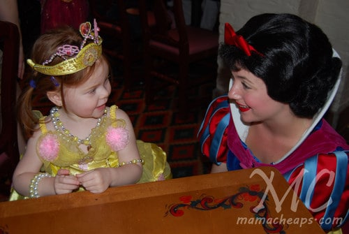 lily snow white princess dinner akershus epcot center