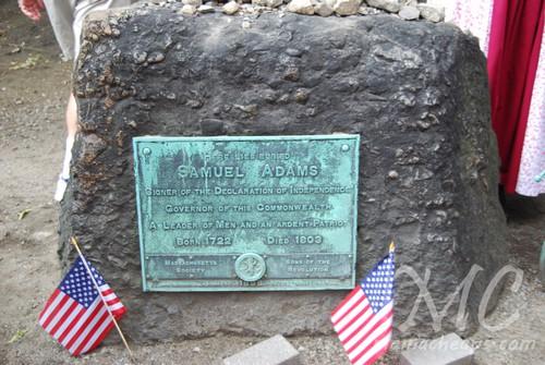 Samual Adams Grave Granary Boston