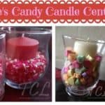 valentines candy centerpieces