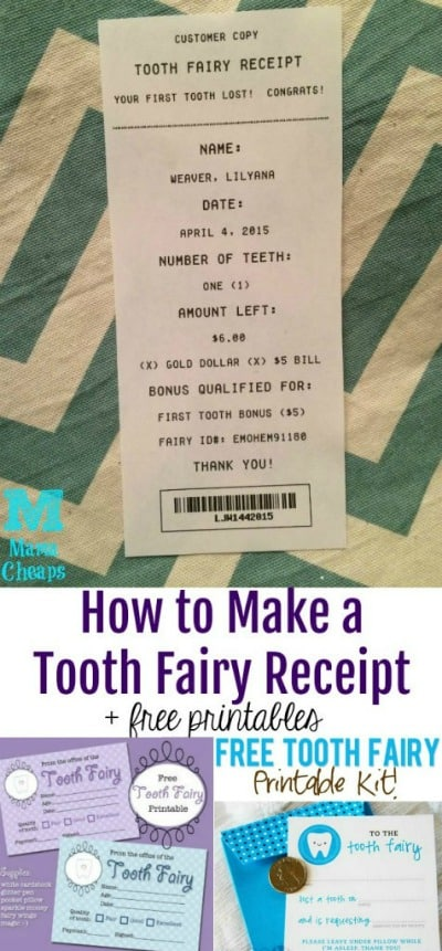 picture about Free Printable Tooth Fairy Receipt titled Free of charge Printable Enamel Fairy Receipts - Quite a few toward Get Versus