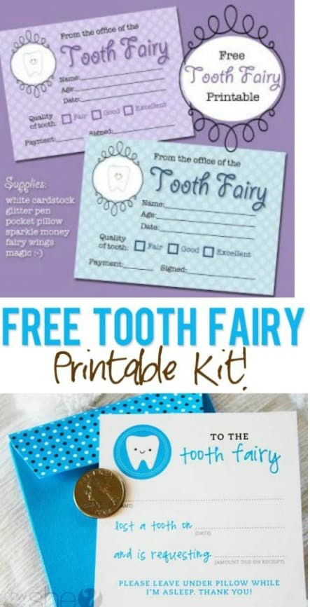 image regarding Tooth Fairy Printable called No cost Printable Enamel Fairy Receipts - Lots of in the direction of Take Against