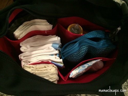 Built Diaper Bag Night Damask Packed Up
