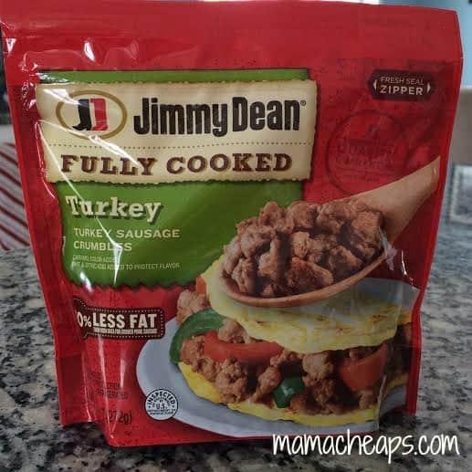 Jimmy Dean turkey sausage crumbles