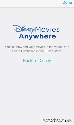 disney movies anywhere app itunes connected