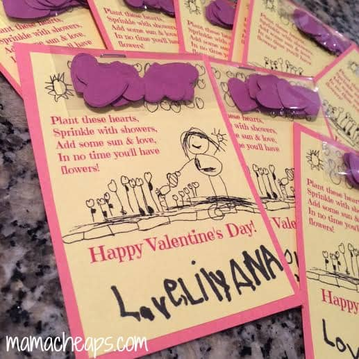 Seed Paper Valentine Cards