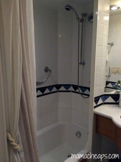 Disney Magic Ship cabin bathroom shower