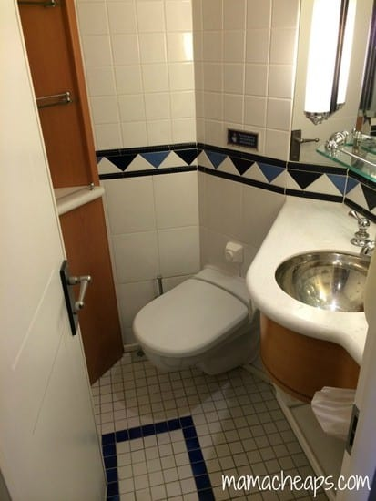 Disney Magic Ship cabin bathroom toilet