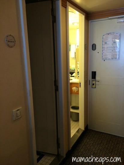 Disney Magic Ship cabin bathroom