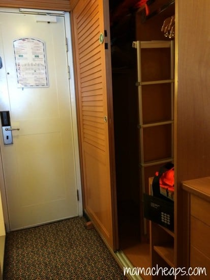 Disney Magic Ship cabin closets