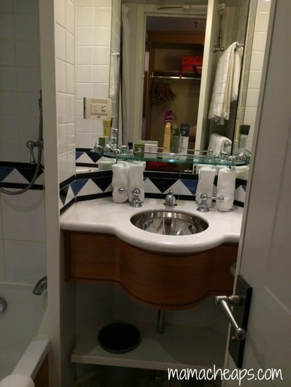 Disney Magic Ship cabin sink