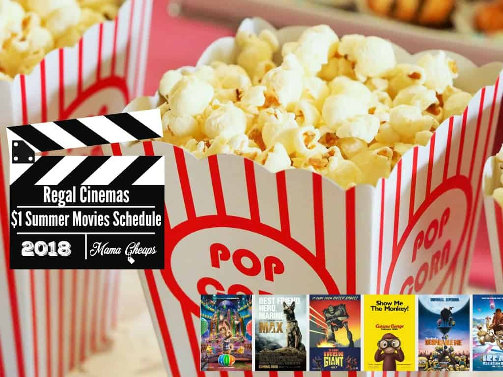 Regal Cinemas $1 Summer Movies Schedule 2018 lineup